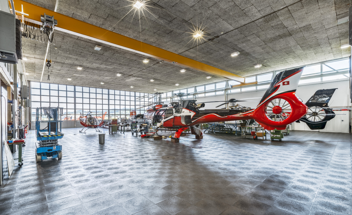 Within the 650-square-metre hangar, ZGS deployed its TECTON C industrial luminaire that provided higher levels of illumination at a reduced cost in power.