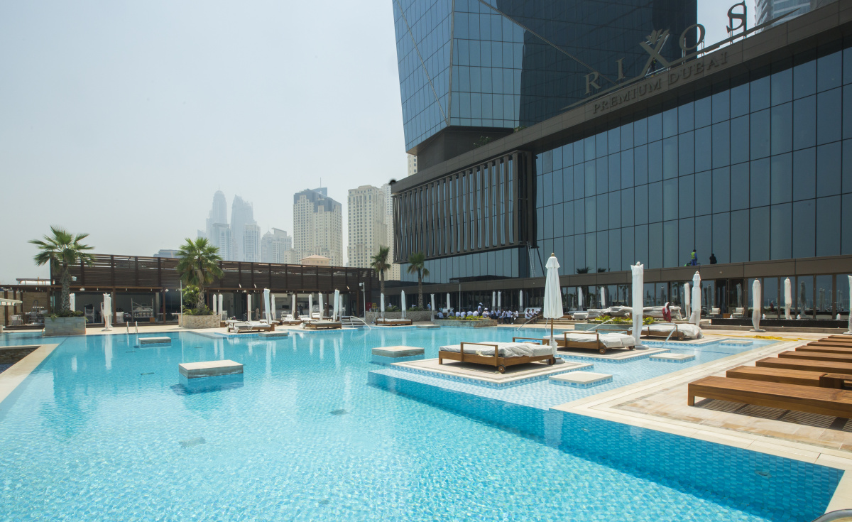 The Rixos Premium hotel is located in the heart of Jumeirah Beach Residences.