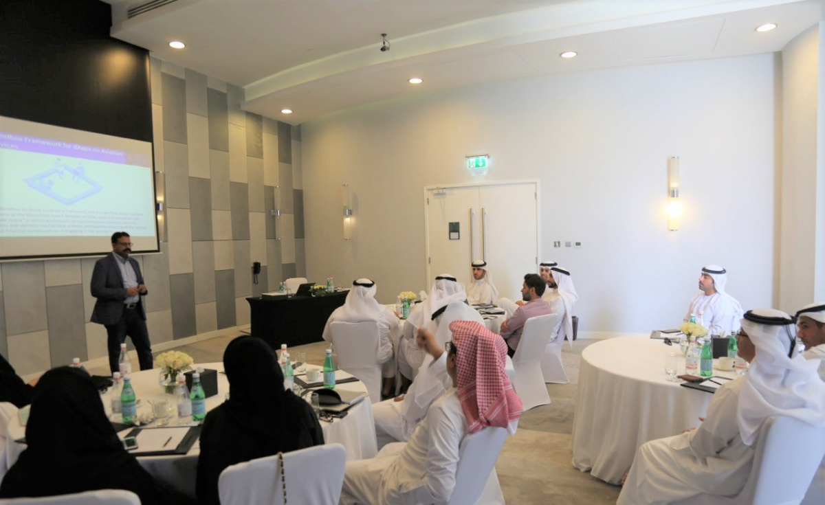 Highlighting the possible applications, along with best use cases, value propositions and adoption strategies, the workshop was attended by 18 decision makers from the GCAA, which included HE Sheikh Saif Mohammed Al Suwaidi, Director General of the GCAA.