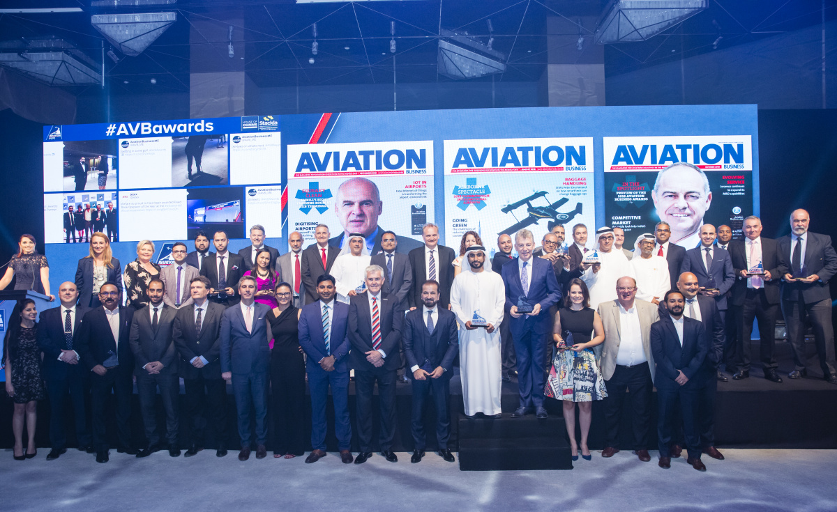 The winners of the 2018 Aviation Business Awards.