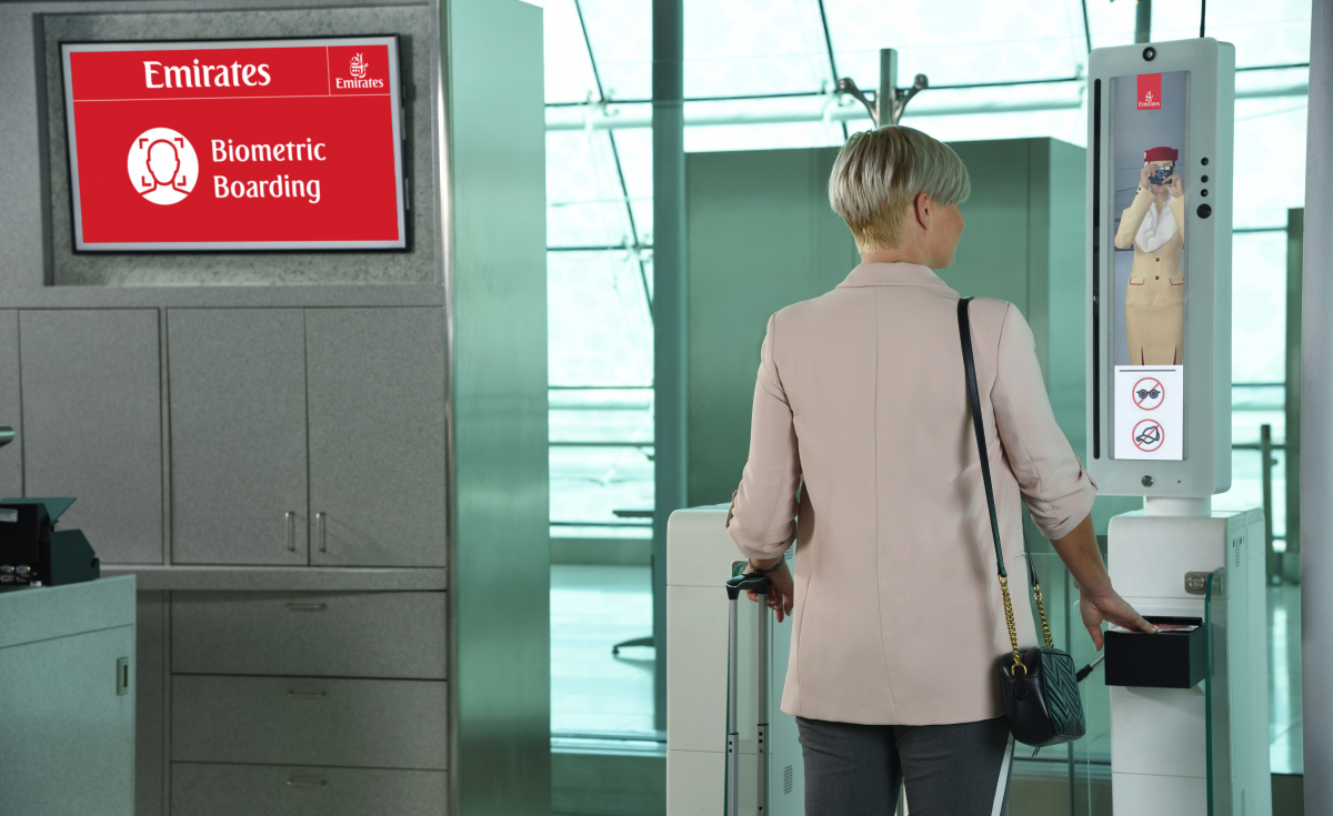 The first stage of the implementation has already been deployed at Emirates Terminal 3 and can be found at select check-in counters at the Emirates Lounge in Concourse B for premium passengers, and at select boarding gates.