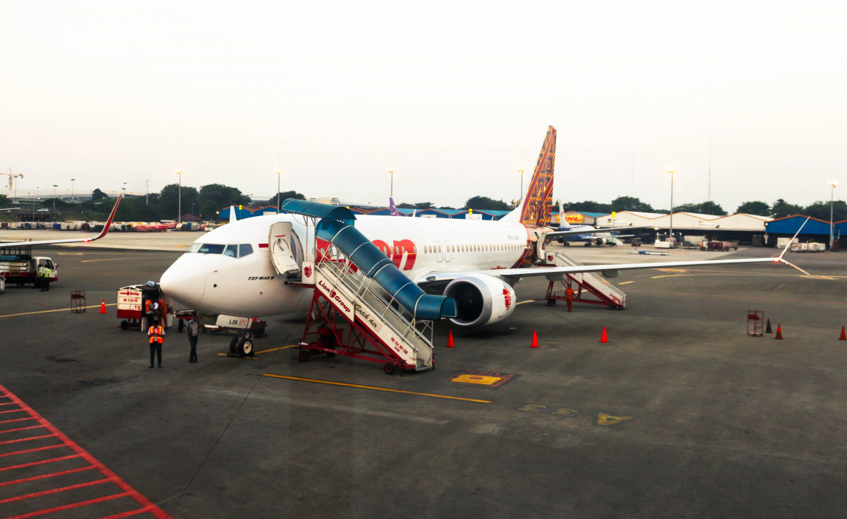 Lion Air Flight JT 160 was due to arrive at Depati Amir airport an hour after taking off from Jakarta.