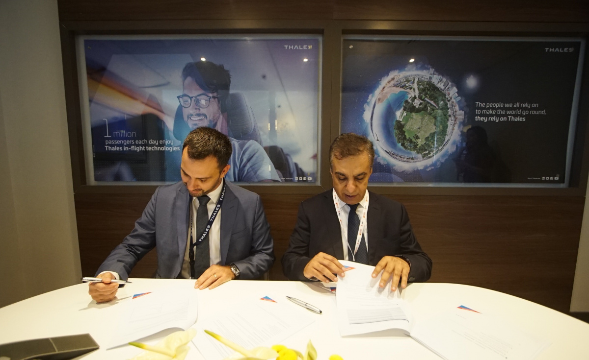 The new deal between Air Arabia and Thales was signed during the Bahrain International Airshow.