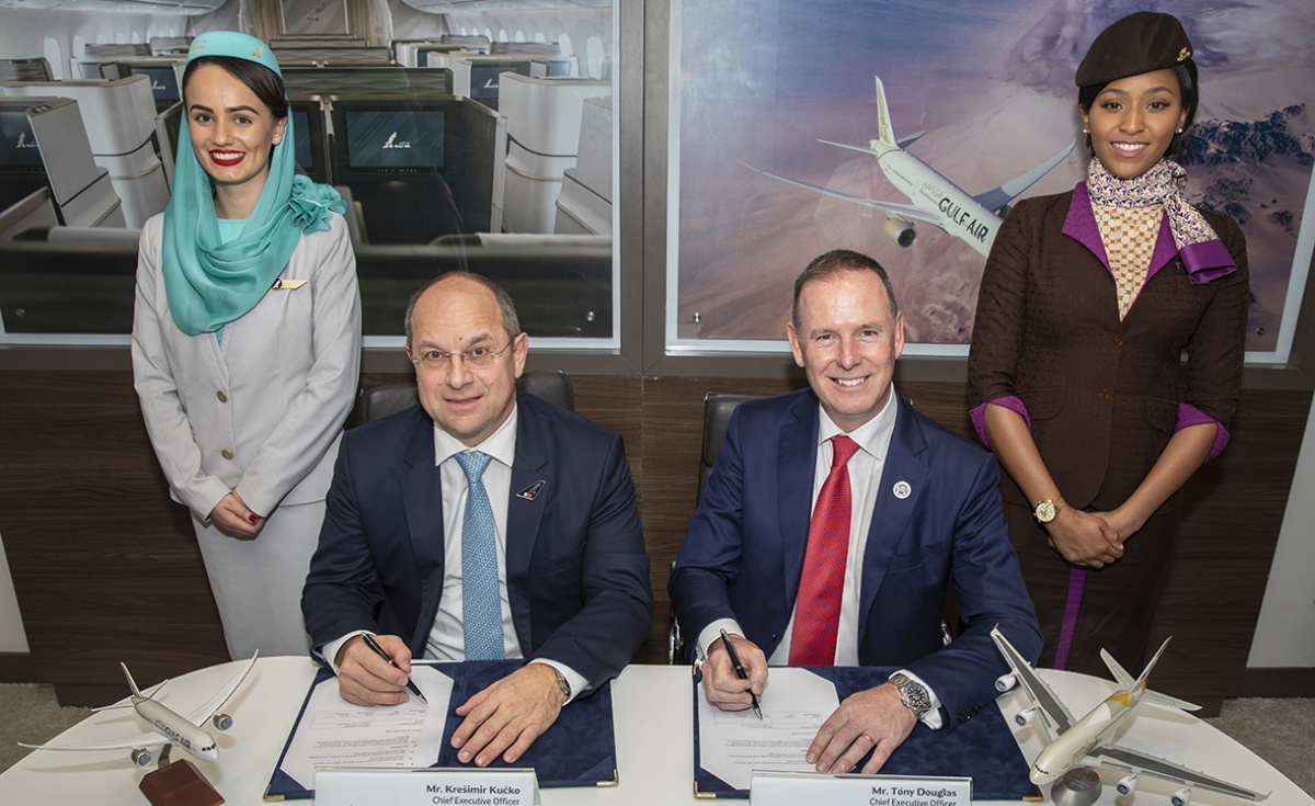 As per the agreement, which was inked during the Bahrain International Airshow, the two parties will work closely with each other to develop joint codeshare operations, optimise pilot training facilities, as well as increasing coordination their engineering and cargo services.