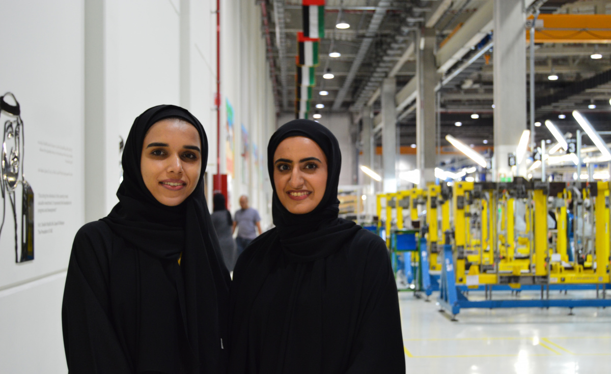 In 2018, Strata sent two of its engineers, Maryam Al Kuwaiti and Naseefa Al Ameri, to visit Boeing's facilities in the US and receive training related to the production of tail fins for 787 aircraft.
