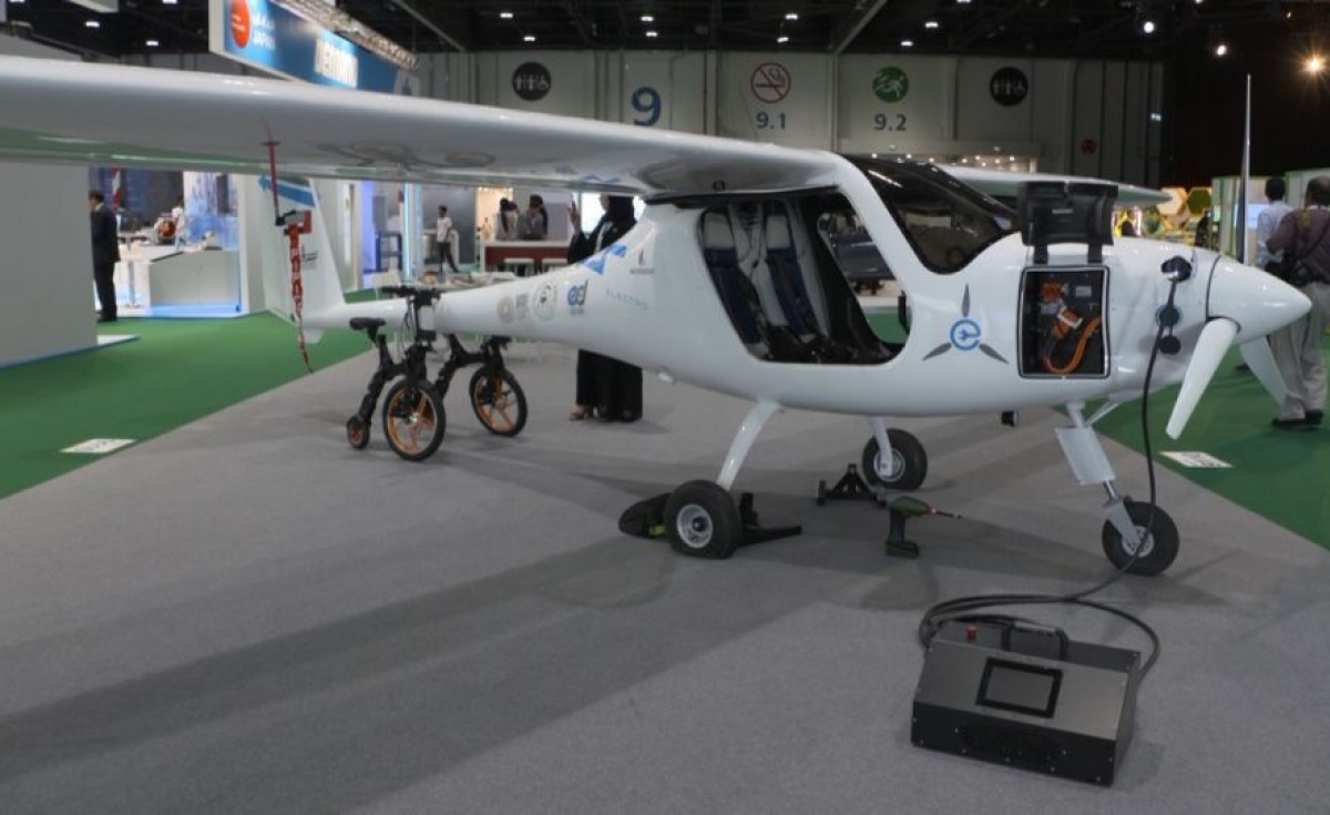 The eco-friendly aircraft goes by the name Alpha Electro and is the first of its kind in the Middle East.