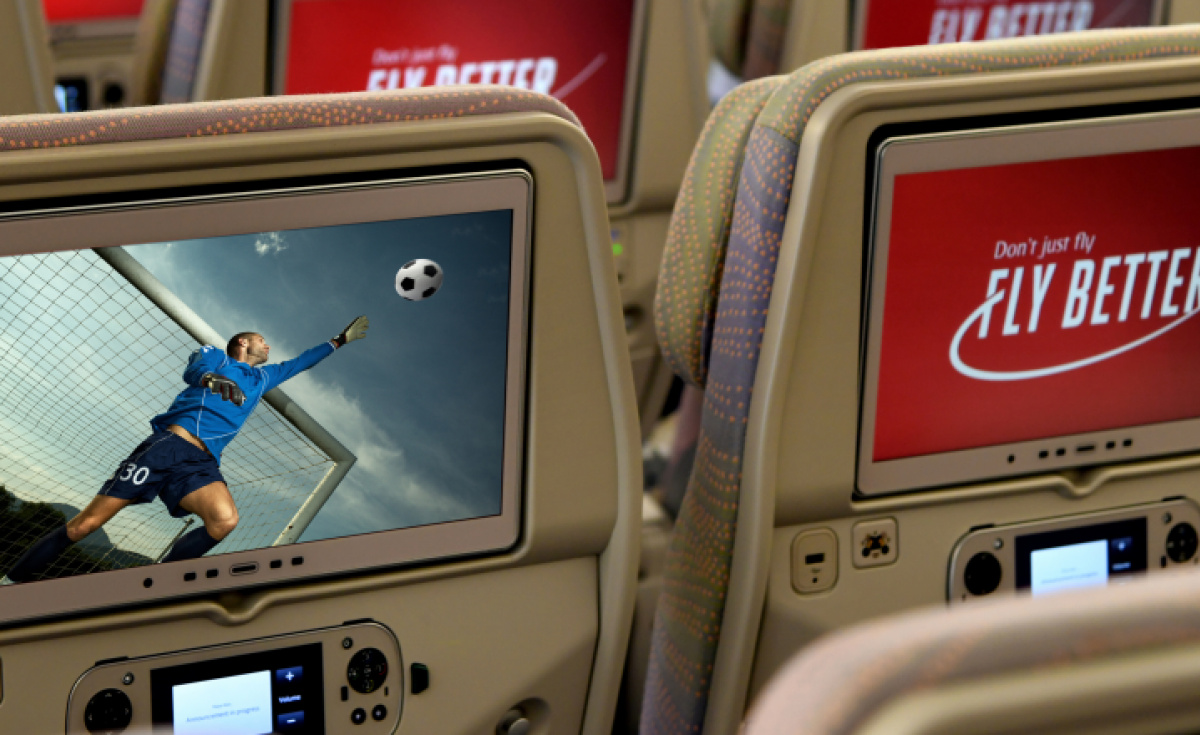 Match broadcasts are expected to screen on 55-inch screens on the onboard lounge on select A380s. Beyond that, all travellers on equipped aircraft will be able to enjoy the broadcasts from the comfort of their seats.