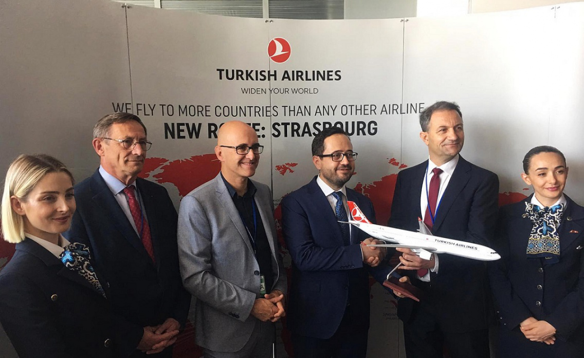 The inauguration ceremony that was held in Strasbourg was attended by Turkish Airlines' Southern Europe Vice President for Sales, Ömer Faruk Sönmez.