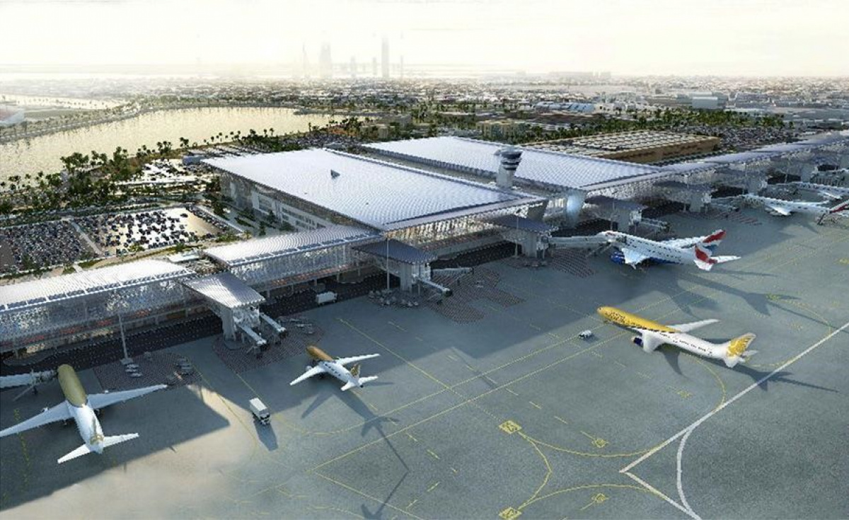 The current expansion of Bahrain International Airport is one of the foundation stones of the country's $13bn investment into its tourism industry. Image: AESG.