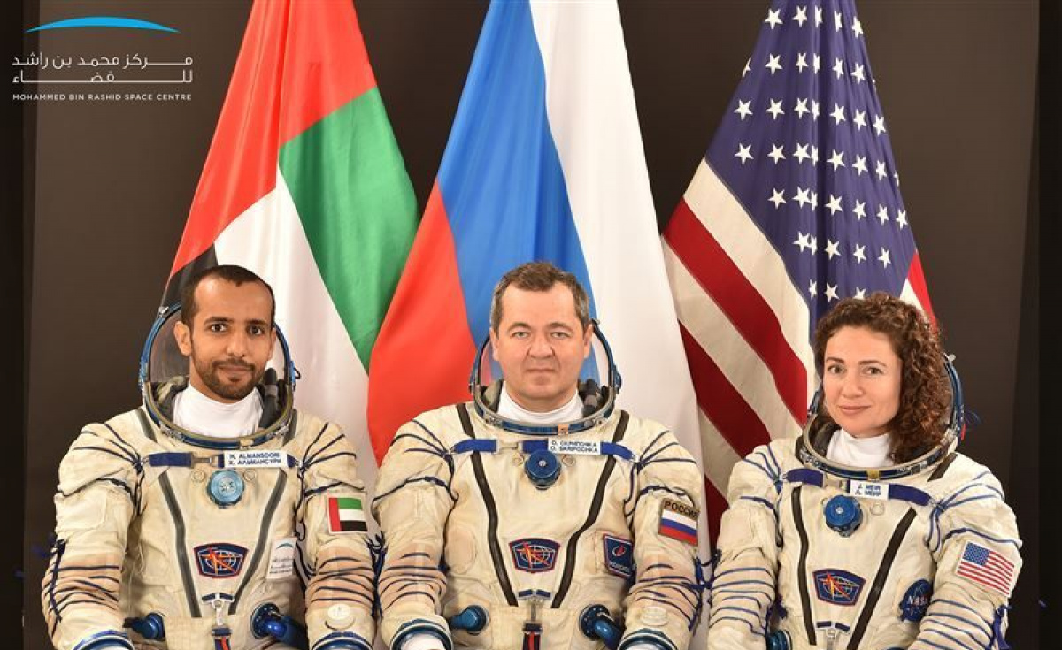 With less than 100 days to go, Hazzaa Al Mansoori is training with the mission's main crew, alongside Roscosmos commander Oleg Skripochka, and the American NASA astronaut, Jessica Meir.