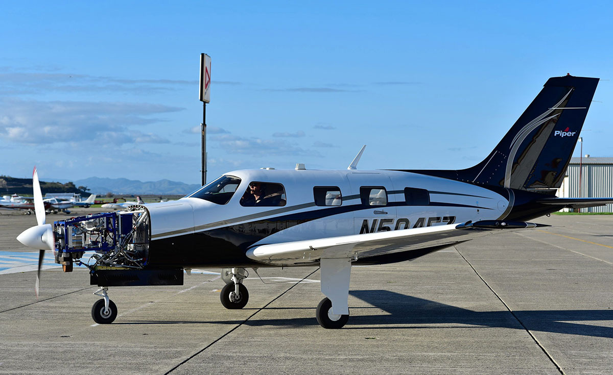 Zero Avia's hydrogen-fuelled electric powertrain installed in a Piper M class plane.