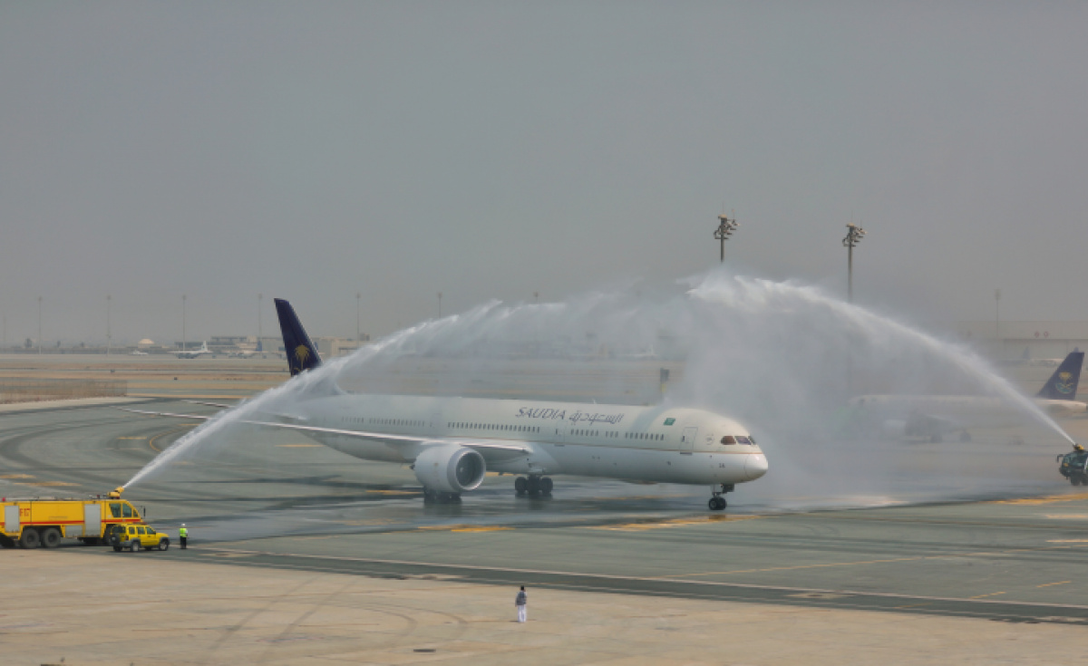 Saudia's first Boeing 787-10 was delivered in October as part of its Dreamliner fleet expansion.