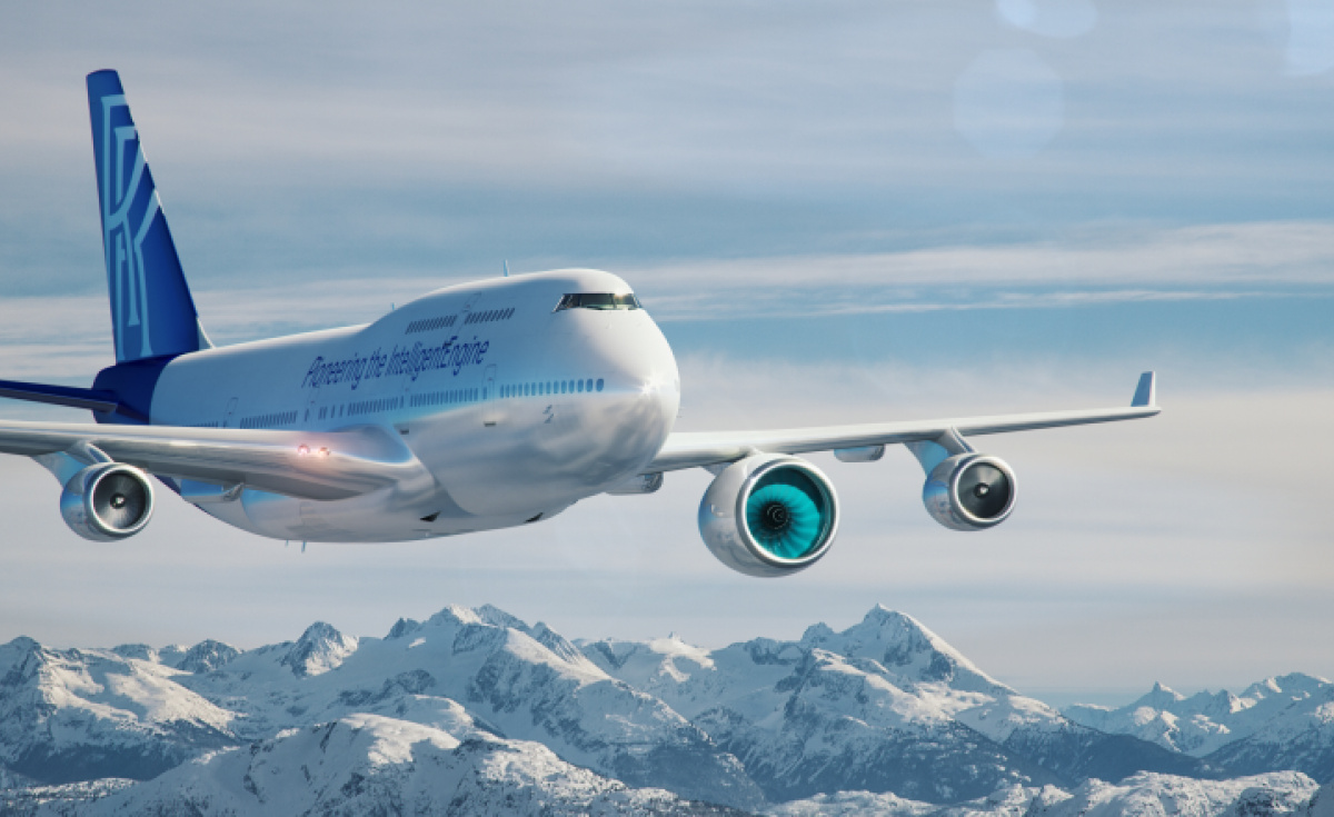 Rolls Royce, Testbed, Flying testbed, Qantas, 747, Boeing 747-400