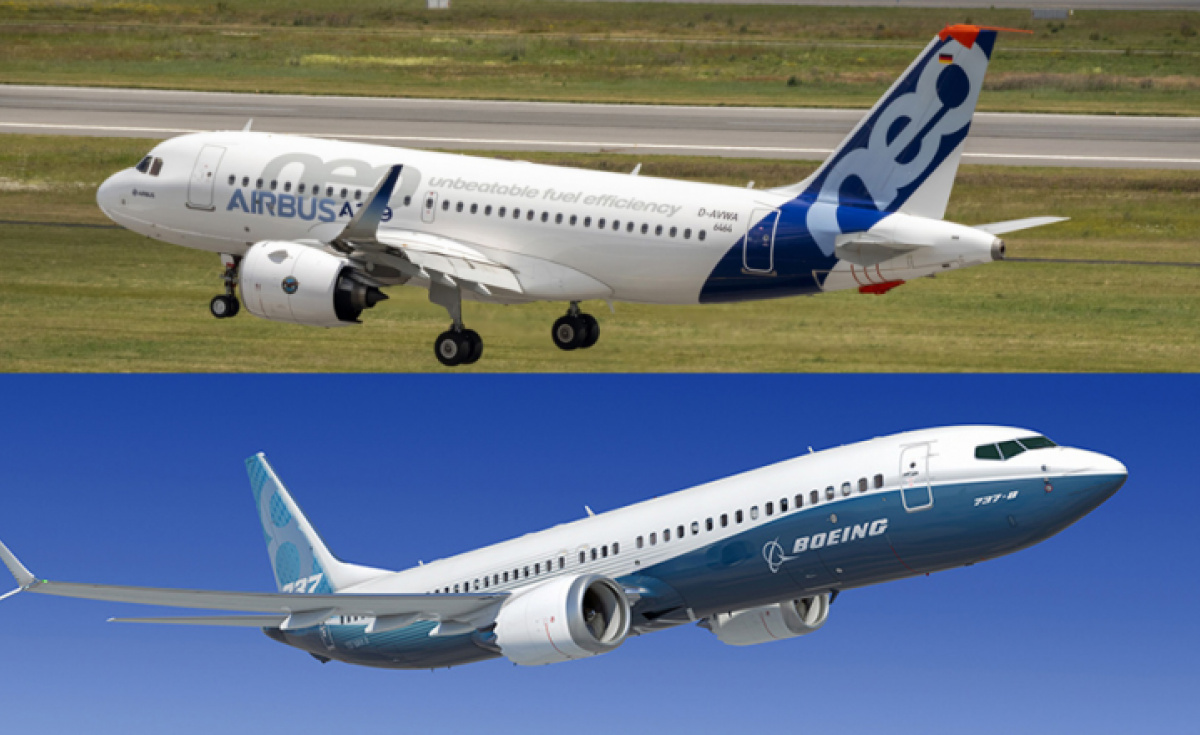 737, A320, Boeing, Airbus