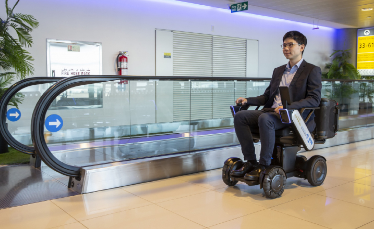 Etihad, Abu Dhabi airport, Whill, Accessibility, Airport accessibility, Autonomous wheelchair, Airport assistance