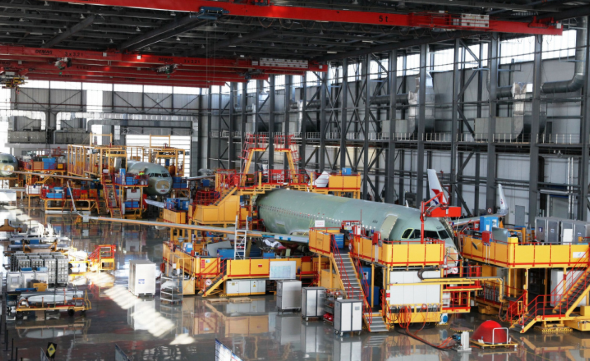 Airbus' plant in Tianjin, China, was temporarily closed in February but has since resumed deliveries to customers.