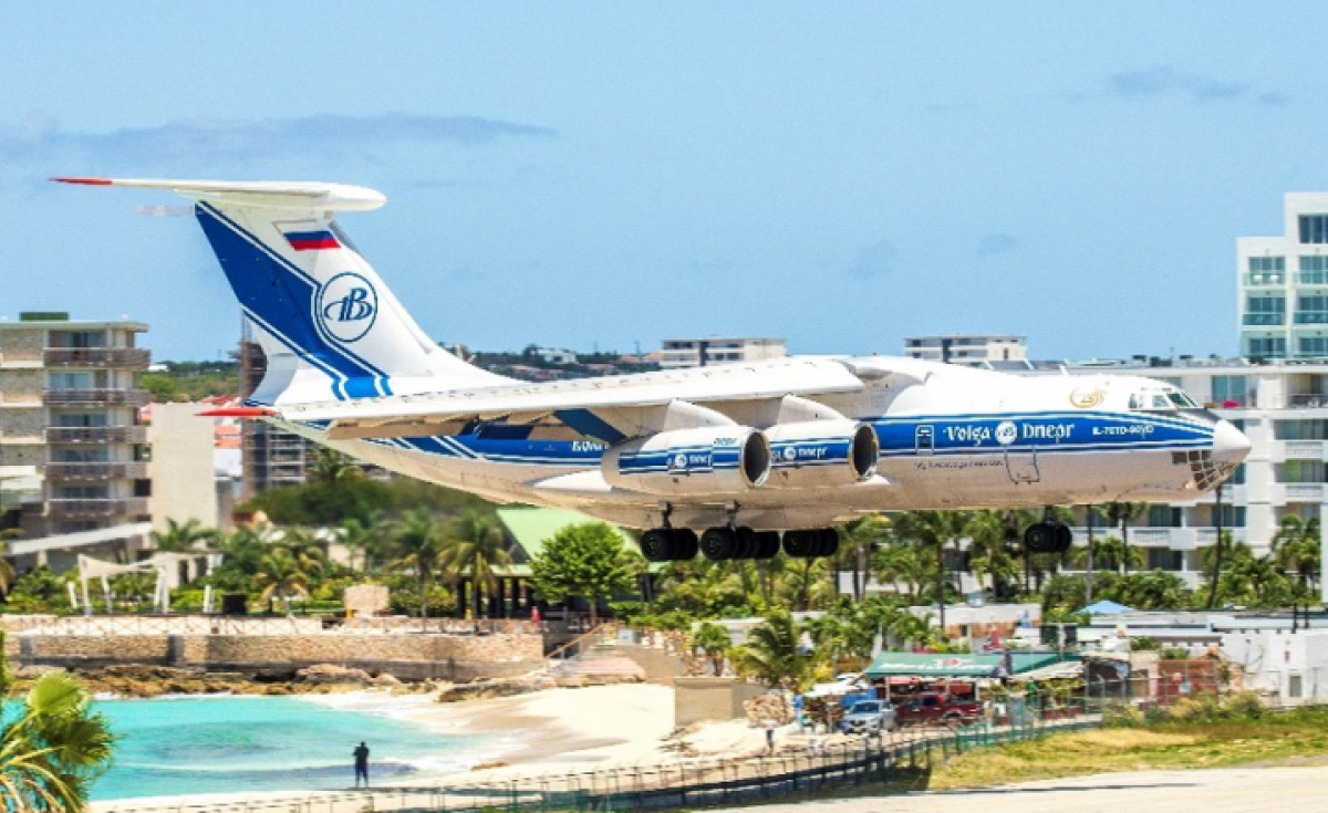 St Maarten Princess Juliana International Airport is famous for its low-altitude beach approach and fly past.